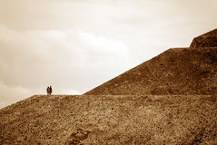 teotihuac för n-pyramidsun Royaltyfri Fotografi