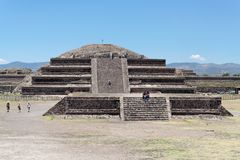 teotihuacan墨西哥的金字塔 图库摄影