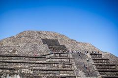 teotihuacan月亮的金字塔 特奥蒂瓦坎,墨西哥城,墨西哥 库存照片