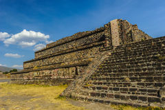 teotihuacan月亮的金字塔 免版税库存照片