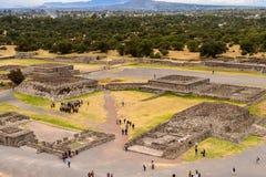 Teotihuacan, всемирное наследие ЮНЕСКО стоковое изображение rf
