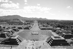 Teotihuacan. This is Teotihuacan near mexico city, an old mayan city with the biggest pyramid worldwide Stock Photo
