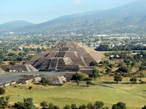Teotihuacan - alte Ruinen nahe Mexiko City stockbilder