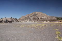 Pyramid of the Sun at Teotihuacan ancient pre-Columbian site, Mexico Stock Images