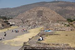 Teotihuacan ancient pre-Columbian site, Mexico Royalty Free Stock Photo