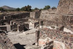 Teotihuacan ancient pre-Columbian site, Mexico stock photos