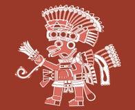 Teotihuacan Anstrich Lizenzfreie Stockfotos