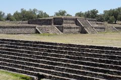 Teotihuacan Avenue of the Dead Mexico Royalty Free Stock Image