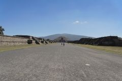 Teotihuacan Avenue of the Dead Mexico Royalty Free Stock Images