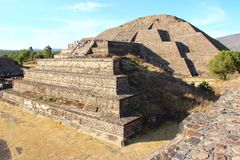 Teotihuacan - aztec pyramid in Mexico stock photography