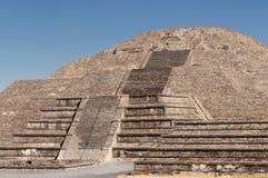 Teotihuacan Aztec ruïneert dichtbij Mexico-City stock foto