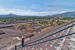 Teotihuacan, Aztec ruins, Mexico Royalty Free Stock Photos