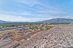 Teotihuacan, Aztec ruins, Mexico Royalty Free Stock Image