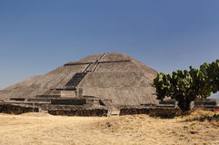 Teotihuacan Aztec ruins near Mexico city Royalty Free Stock Photo