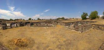 Teotihuacan city ruins. Panorama shot stock image