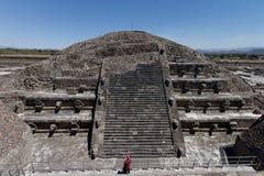 Teotihuacan - ciudad precolombian en México 16 imagen de archivo