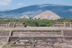 Teotihuacan From The Temple Of Quetzalcoatl Stock Image