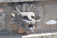 Teotihuacan, Jaguar-Gezicht/Hoofd Stock Foto
