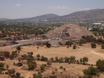 Teotihuacan, México, una civilización precolombina antigua que precedió la cultura azteca Imagen de archivo libre de regalías