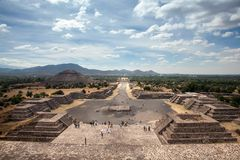Teotihuacan, Mexico royalty-vrije stock afbeelding