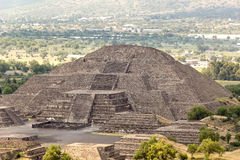 TEOTIHUACAN, MEXICO - CIRCA JULY 2016: Pyramid of the moon. Aztec pyramid of the moon in Teotihuacan Royalty Free Stock Images