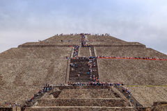 TEOTIHUACAN, MEXICO - 28 DECEMBER 2015: People on Teotihuacan Stock Photo