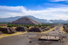 TEOTIHUACAN, MEXICO - 28 DECEMBER 2015: Teotihuacan landscape Stock Images