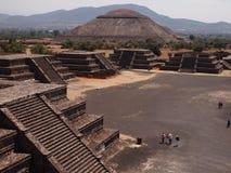 Teotihuacan, Mexico, een oude Pre-Columbian beschaving die de Azteekse cultuur voorafging Stock Afbeeldingen