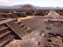 Teotihuacan, Mexico, een oude Pre-Columbian beschaving die de Azteekse cultuur voorafging Royalty-vrije Stock Foto
