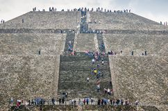 Teotihuacan, Mexico - October 27, 2018. Archeological site royalty free stock photography
