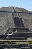 teotihuacan mexico pyramidsun Fotografering för Bildbyråer