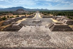 Teotihuacan, Mexique Photo libre de droits