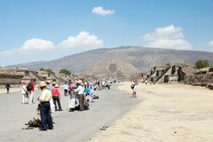 Teotihuacan, Mexique Images stock