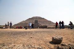 Teotihuacan, Mexique - 5 janvier 2018 Pyramide du Sun images libres de droits