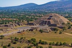 Teotihuacan Moon Pyramid Mexico stock photo