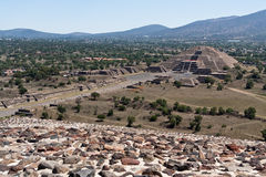 Teotihuacan Moon Pyramid Mexico Royalty Free Stock Photography