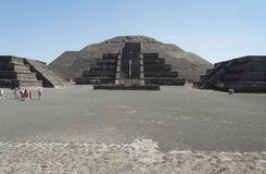 Teotihuacan Moon Pyramid Mexico Stock Photo