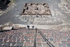 Teotihuacan Moonpyramid Mexico Arkivfoton
