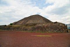 teotihuacan ostrosłupa słońce Zdjęcia Royalty Free