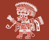 Teotihuacan painting royalty free illustration