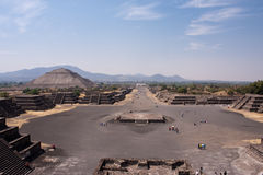 teotihuacan piramides Arkivfoto