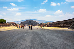 Teotihuacan pyramid in Mexico Royalty Free Stock Photos