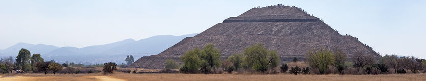 Teotihuacan Pyramid, Mexico Stock Images