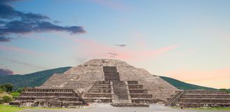 Teotihuacan pyramid of the moon. Royalty Free Stock Photography