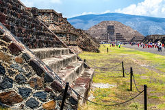 Teotihuacan. Pyramid of the Moon at Teotihuacan royalty free stock images