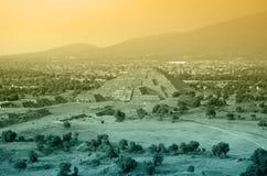 Teotihuacan Pyramid Stock Photography