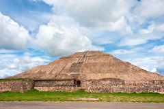 Teotihuacan pyramid of the sun. Stock Photos