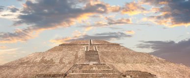 Teotihuacan pyramid of the sun. Stock Photo