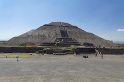 Teotihuacan Pyramid of The Sun Mexico Stock Photo