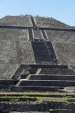 Teotihuacan Pyramid of The Sun Mexico Stock Image